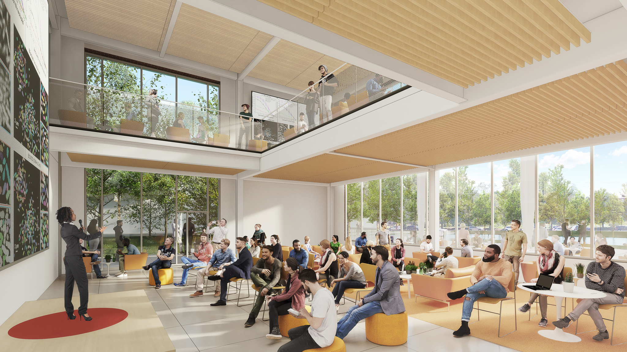The new building will have event space for Datapalooza, Women in Data Science, and guest speakers.