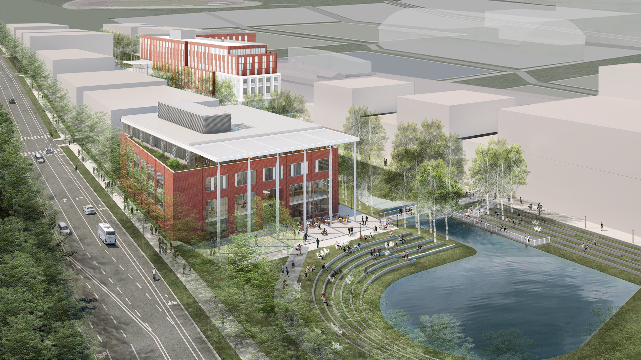 Image of the new School of Data Science building