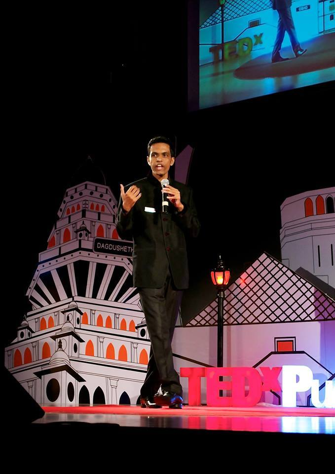 Suryawanshi giving a TED talk