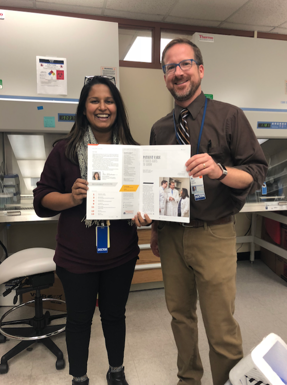 Dr. Sana Syed with mentor Dr. Sean Moore