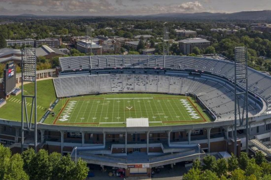 Aerial view of Scott Stadium