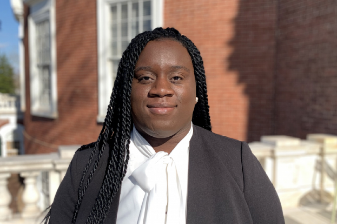 Angela Boakye Danquah (M.S. in Data Science '22) is the first recipient of the Graduate Fellowship for Inclusive Excellence