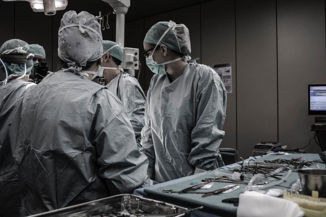 Doctors working in an ER