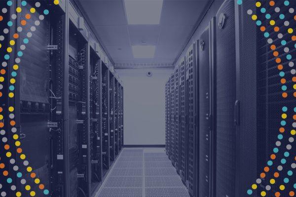 Data burst around server room