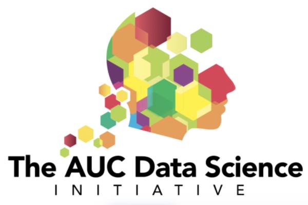 AUC Data Science Initiative logo - colorful blocks making a face profile