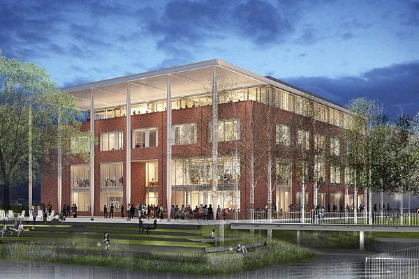 rendering of new building on corner of Emmett and Ivy