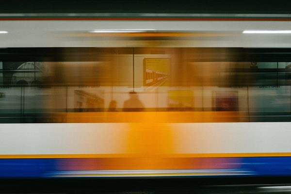 Speeding subway